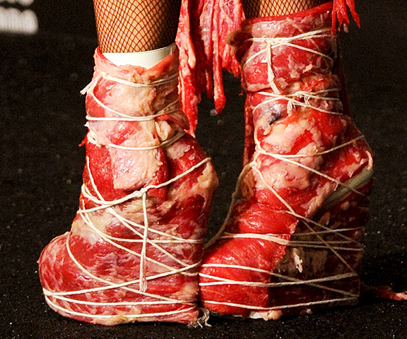 Lady Gaga Meat Shoes
